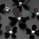3D Crystal Flowers - Black Wallsticker