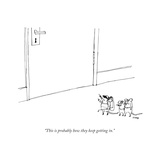 """This is probably how they keep getting in."" - New Yorker Cartoon Stretched Canvas Print by Edward Steed"