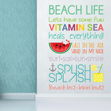 Beach Quotes Decalques de parede