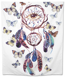 Watercolor Ethnic Dream Catcher with All Seeing Eye. Tapestry by  tanycya