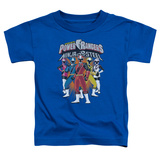Toddler: Power Rangers: Ninja Steel- Team Lineup T-Shirt