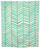 Herringbone - Mint Tapestry by Cat Coquillette