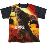 Youth: Kong: Skull Island- Attack Of The King Black Back T-shirts
