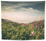 Obscurity - Smokey Sunrise at Golden Gate Bridge, San Francisco Tapestry by Vincent James