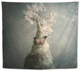 A Small Butterfly Sitting on a Tree with Overlaid Textures Tapestry by Luis Beltran