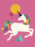 To Be a Unicorn Giclee Print by Andy Westface