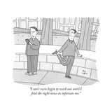 """I can't even begin to work out until I find the right news to infuriate m - New Yorker Cartoon Stretched Canvas Print by Peter C. Vey"