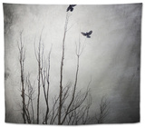 Two Bird Flying Near a Tree Tapestry by Luis Beltran