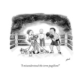"""I misunderstood the term pugilism!"" - New Yorker Cartoon Stretched Canvas Print by Tom Toro"