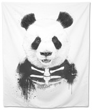 Zombie Panda Tapestry by Balazs Solti