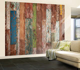 Weathered Wood Wall Mural Wallpaper Mural