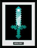 Minecraft - Diamond Sword Reproduction encadrée à collectionner