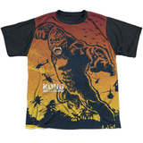 Youth: Kong: Skull Island- Enraged Attack Black Back T-Shirt