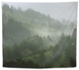 Rainy Hills, California Coast Tapestry by Vincent James