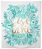 C'est La Vie in Turquoise and Gold Tapestry by Cat Coquillette