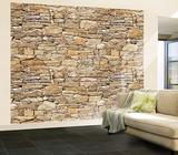 Stone Wall Mural Mural de papel de parede