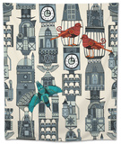 Steampunk Towers Tapestry by Sharon Turner