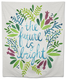 Future is Bright - Watercolor Tapestry by Cat Coquillette