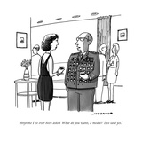 """Anytime I've ever been asked 'What do you want, a medal?' I've said yes."" - New Yorker Cartoon Stretched Canvas Print by Joe Dator"