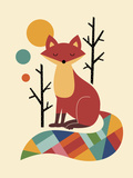 Rainbow Fox Giclee Print by Andy Westface