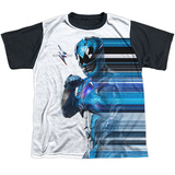 Youth: Power Rangers- Go Go Blue Streak Black Back T-Shirt