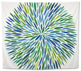 Burst in Cool Palette Tapestry by Cat Coquillette