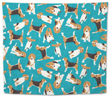 Beagle Scatter (Variant 1) Tapestry by Sharon Turner