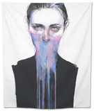 My Opinion About You Tapestry by Agnes Cecile