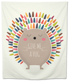 Give Me a Hug Tapestry by Andy Westface