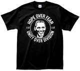 Obama- Hope Over Fear Button Shirt