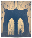 Brooklyn Bridge Tapestry by  NaxArt
