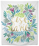 C'est La Vie in Watercolor Tapestry by Cat Coquillette