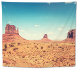 Monument Valley Panorama - Tribal Navajo National Park Tapestry by  franckreporter