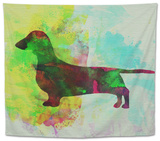 Dachshund Watercolor Tapestry by  NaxArt