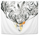 Deer Tapestry by  okalinichenko