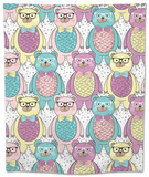 Seamless Pattern with Cute Hipster Bears for Children or Kids. Tapestry by cherry blossom girl