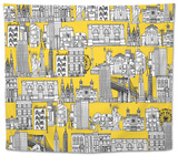 New York Yellow Tapestry by Sharon Turner