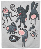 Crazy Cartoon Monsters Tapestry by  panova