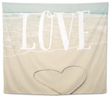 Love Beach Tapestry by Susannah Tucker