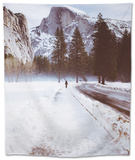 Winter Walk, Half Dome, Yosemite National Park Tapestry by Vincent James