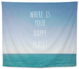 Where Is Your Happy Place Tapestry by Susannah Tucker