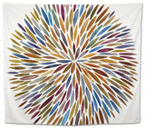 Burst in Retro Palette Tapestry by Cat Coquillette