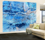 Blue Slate Wall Mural Wallpaper Mural