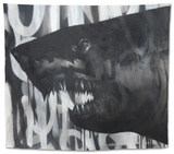 Black on Black Shark Tapestry by Shark Toof