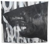 Black on Black Shark Tapestry by Shark Toof