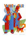 Vanity Fair Cover - March 1931 Stretched Canvas Print by  Depero