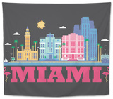 City Living Miami Asphalt Tapestry