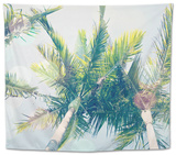 Sun Speckled Palm Trees Tapestry by Susannah Tucker