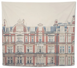 Historic Architecture Tapestry by Laura Evans
