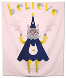 Inspirational Wizard Cat Tapestry by Jordan Andrew Carter